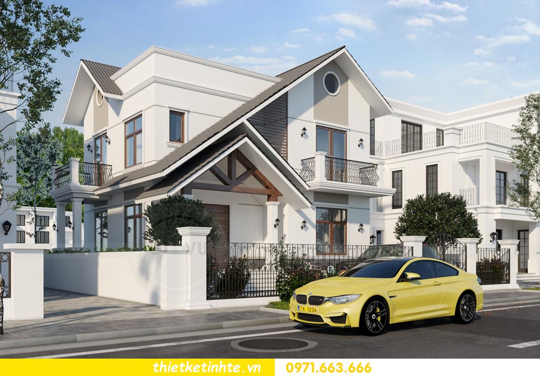 thiết kế kiến trúc biệt thự 2 tầng nhà anh Thanh 4