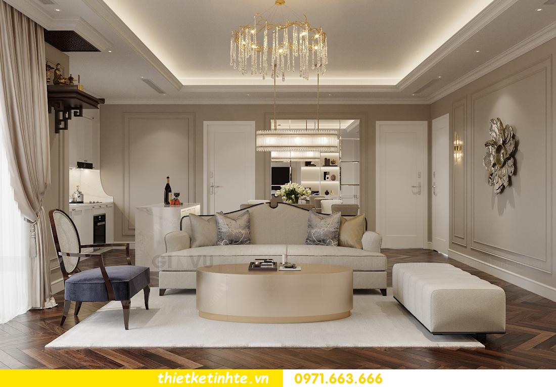 thiết kế nội thất căn hộ 3 phòng ngủ tại Imperia Sky Garden 3