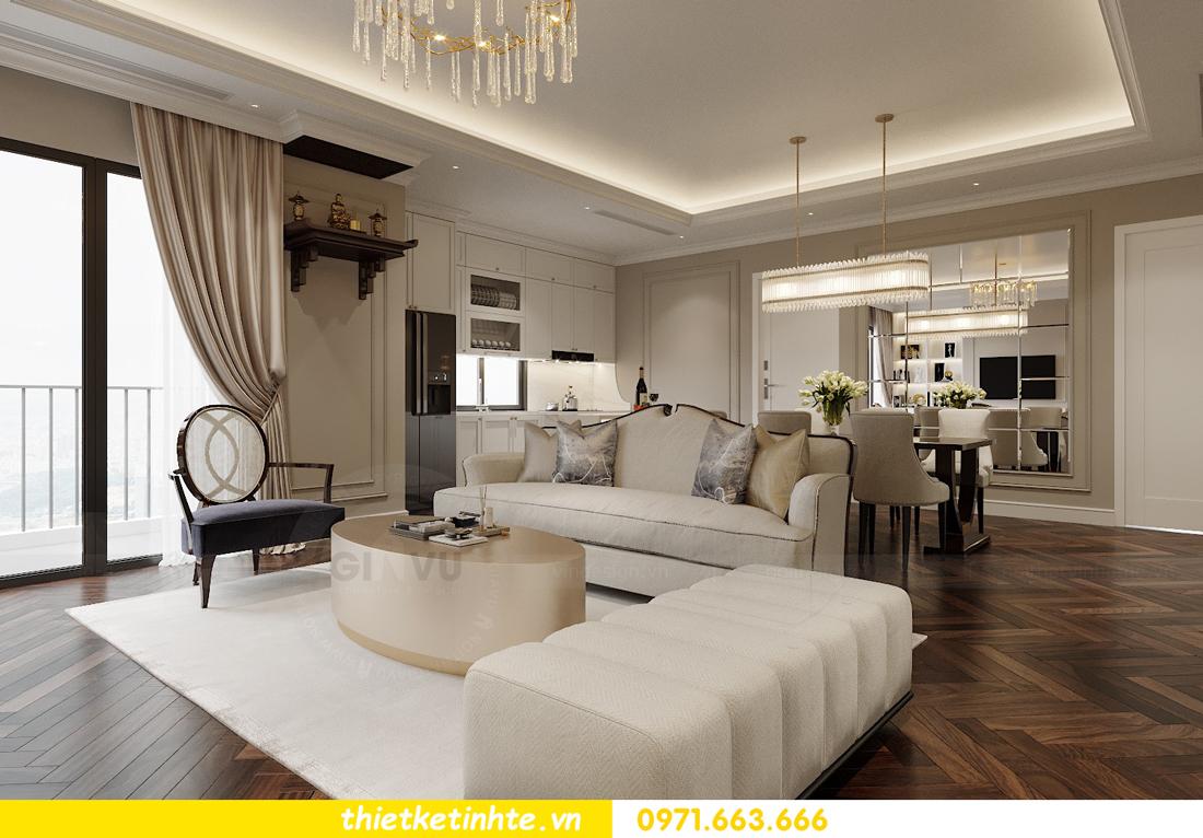 thiết kế nội thất căn hộ 3 phòng ngủ tại Imperia Sky Garden 4