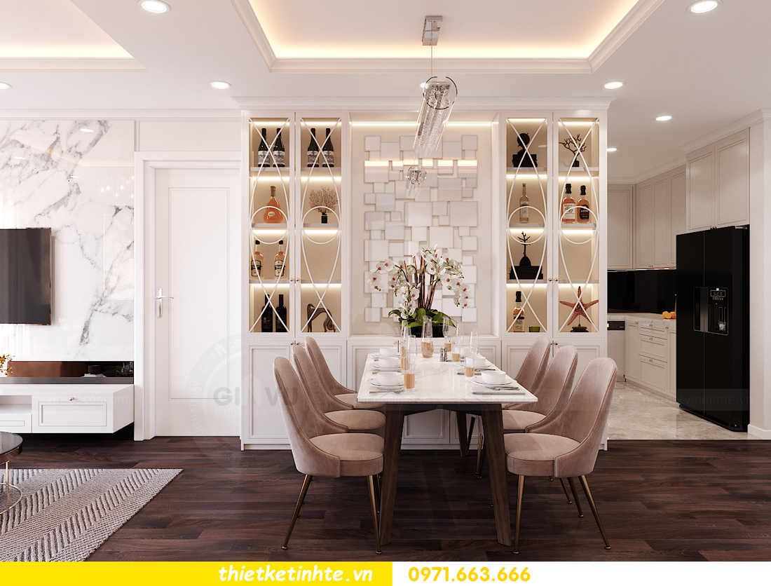 thiết kế nội thất chung cư Sunshine Garden nhà chị Nhung 2