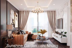 Thiết Kế Nội Thất Chung Cư Sunshine Garden Nhà Chị Nhung