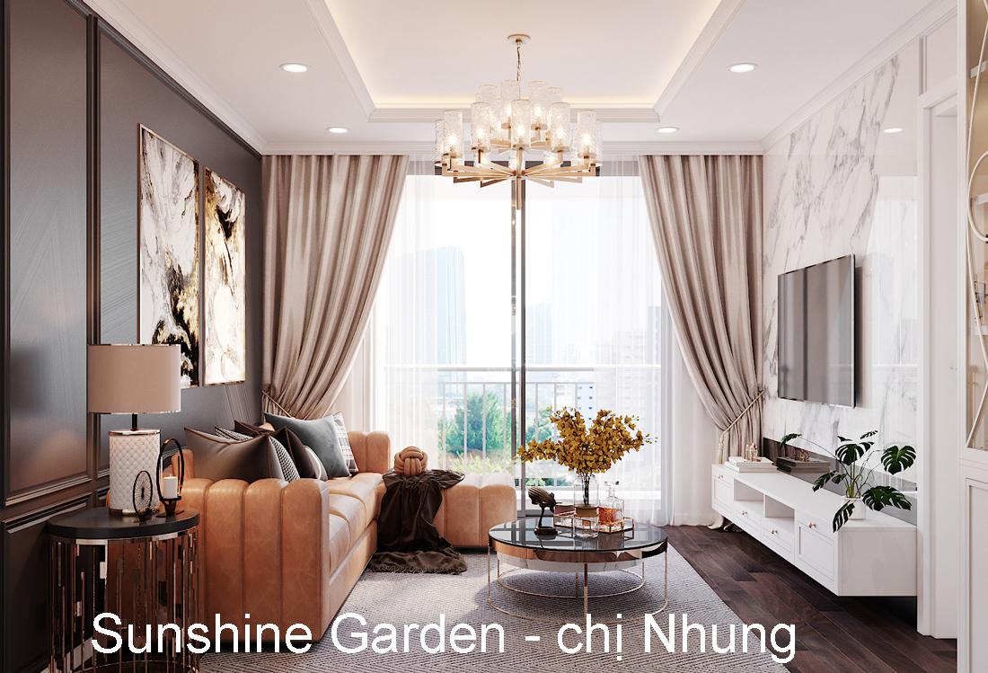 Thiết Kế Nội Thất Chung Cư Sunshine Garden – Chị Nhung