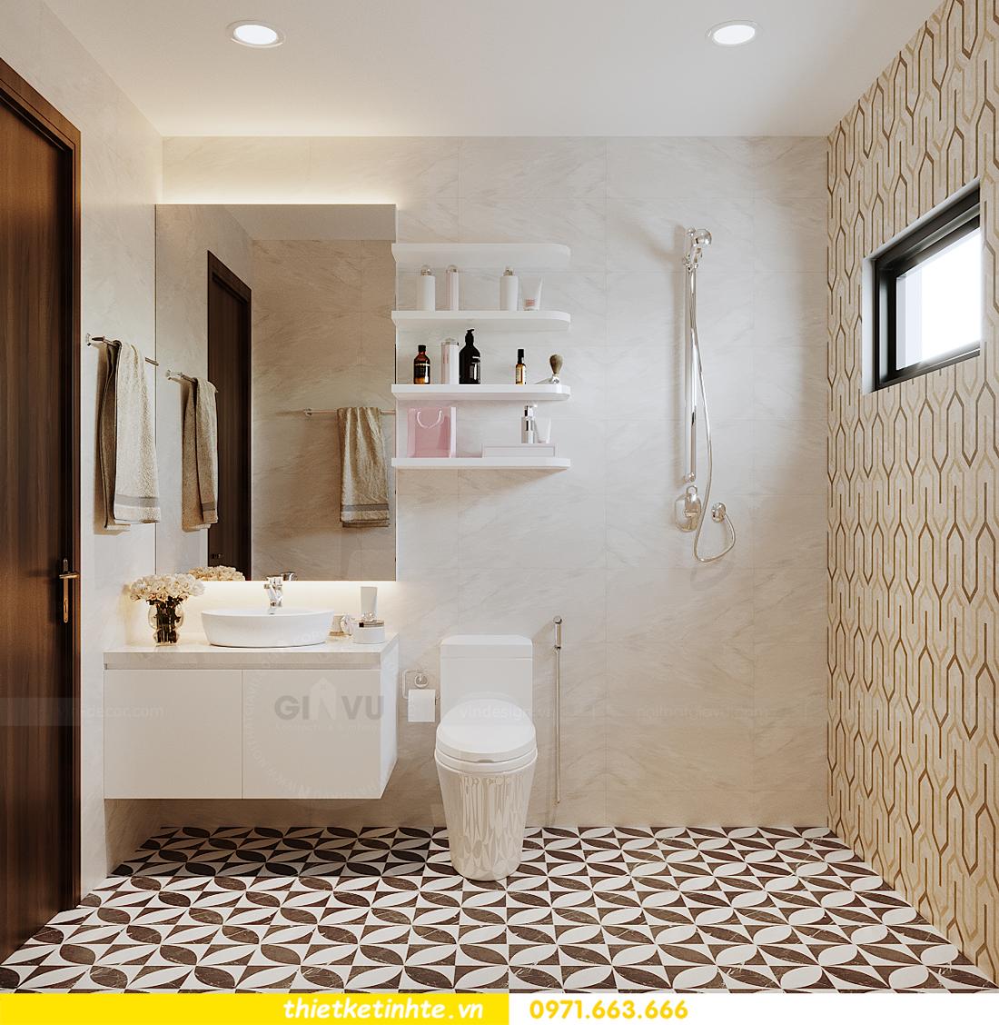 thiết kế nội thất nhà phố hiện đại nhà chị Linh Bắc Giang 14