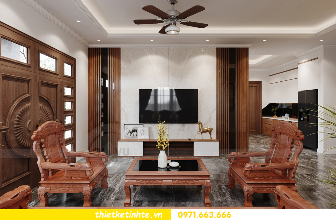 thiết kế nội thất nhà phố hiện đại nhà chị Linh Bắc Giang 3