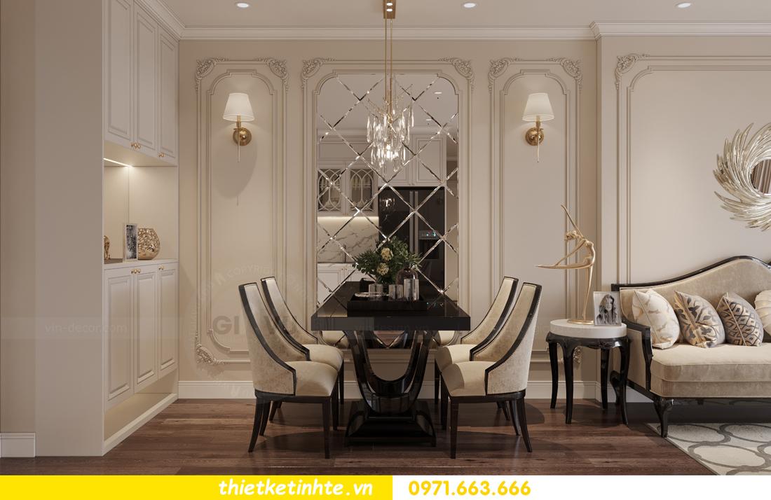 thiết kế nội thất Vinhomes Smart City phong cách tân cổ điển 1