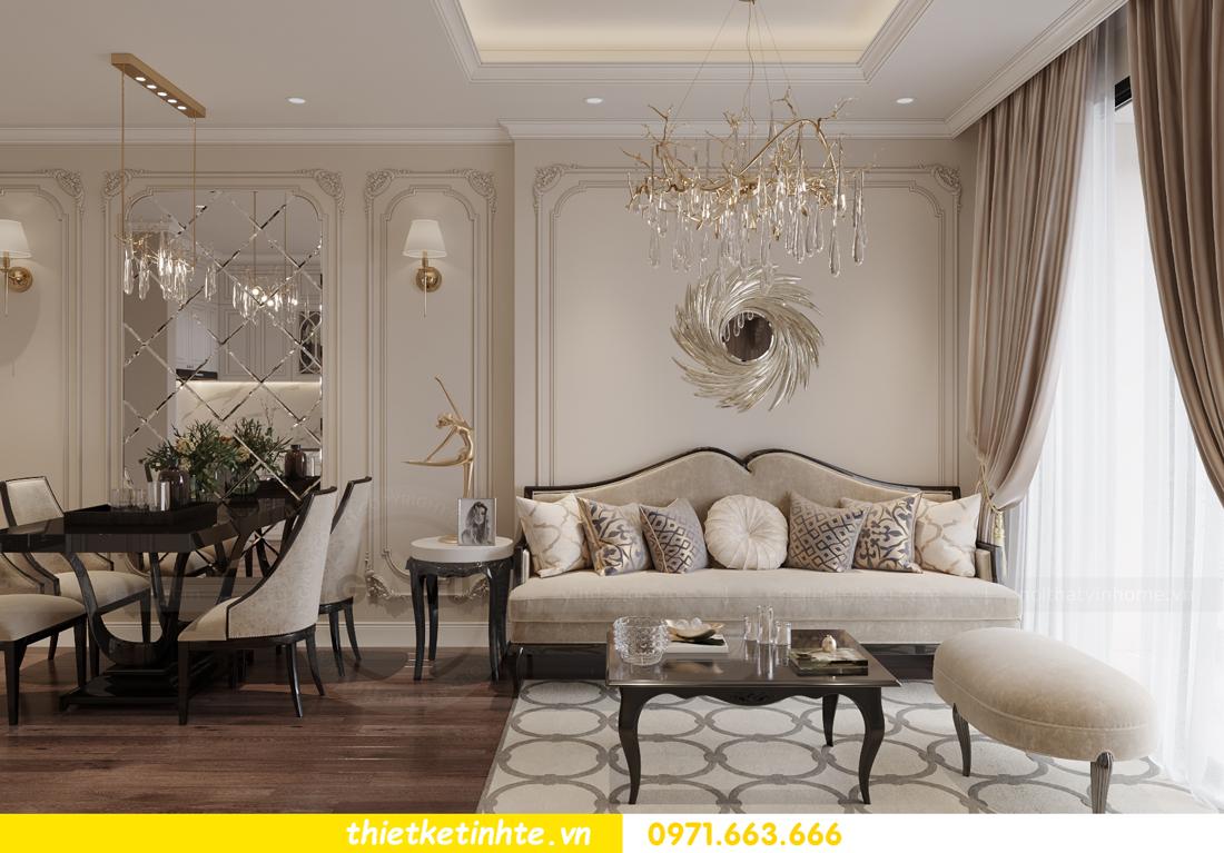 thiết kế nội thất Vinhomes Smart City phong cách tân cổ điển 3