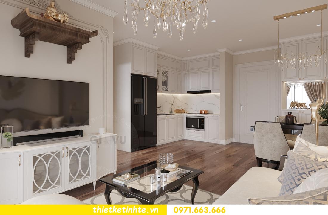 thiết kế nội thất Vinhomes Smart City phong cách tân cổ điển 4