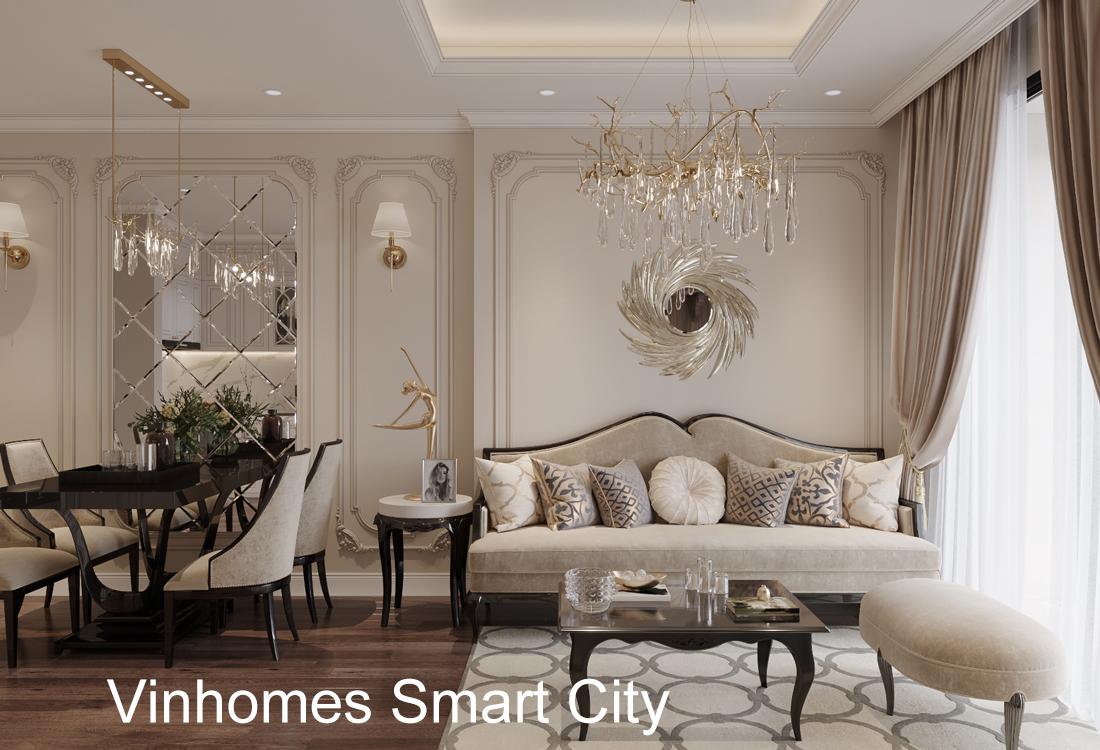 Thiết Kế Nội Thất Vinhomes Smart City – Phong Cách Tân Cổ điển