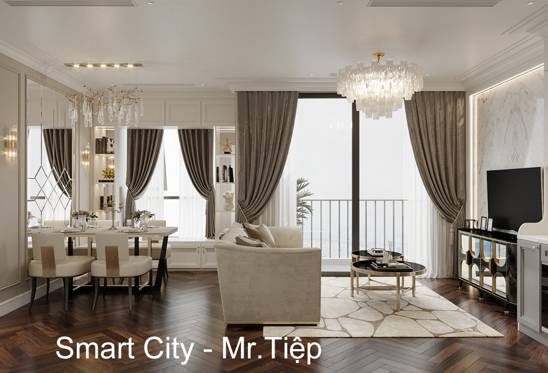 Thiết Kế Thi Công Nội Thất Smart City Tòa S1.01 Căn Hộ 16