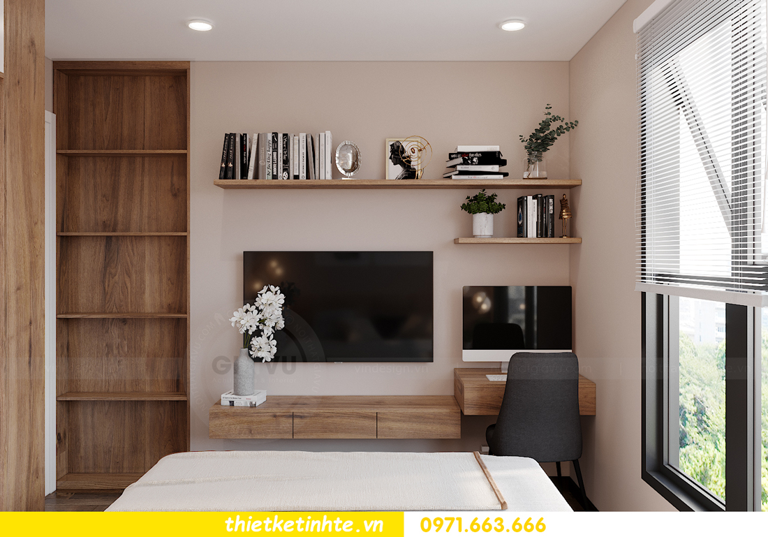 Thiết kế nội thất Vinhomes Smart City tòa S202 căn hộ 01 12