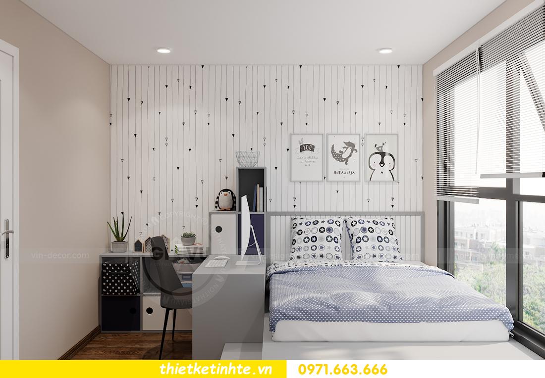 Thiết kế nội thất Vinhomes Smart City tòa S202 căn hộ 01 13