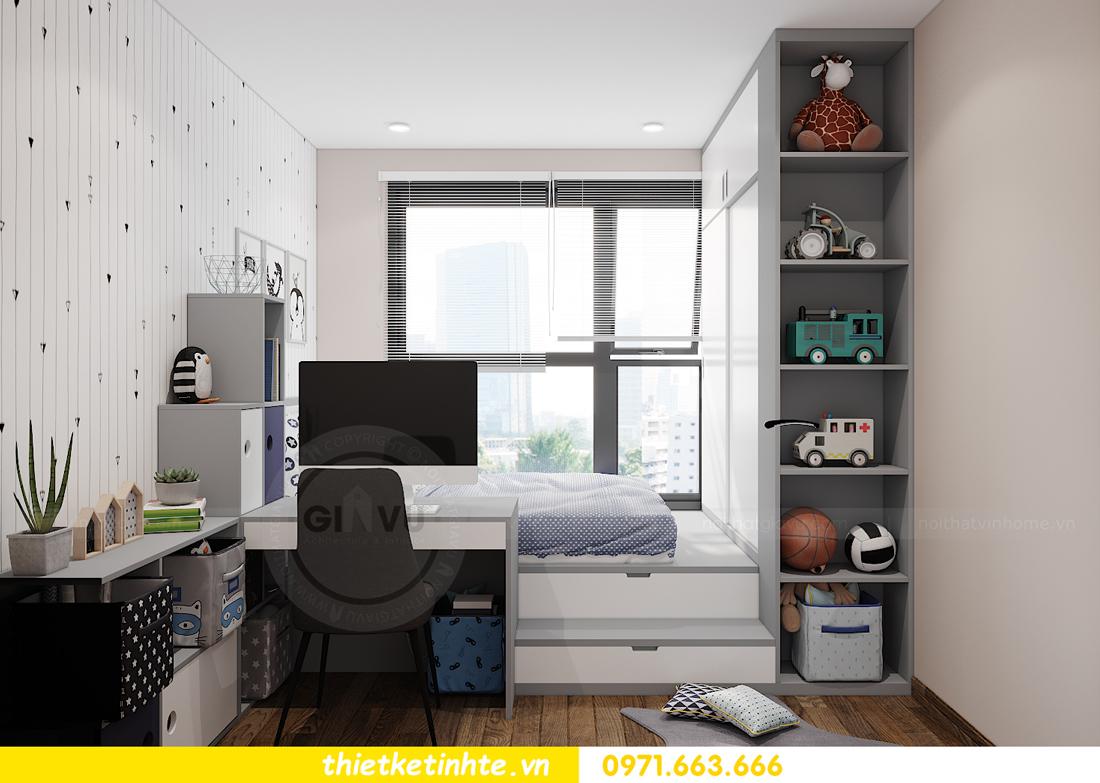 Thiết kế nội thất Vinhomes Smart City tòa S202 căn hộ 01 14