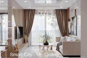 Thiết Kế Nội Thất Vinhomes Smart City Tòa S202 Căn Hộ 01