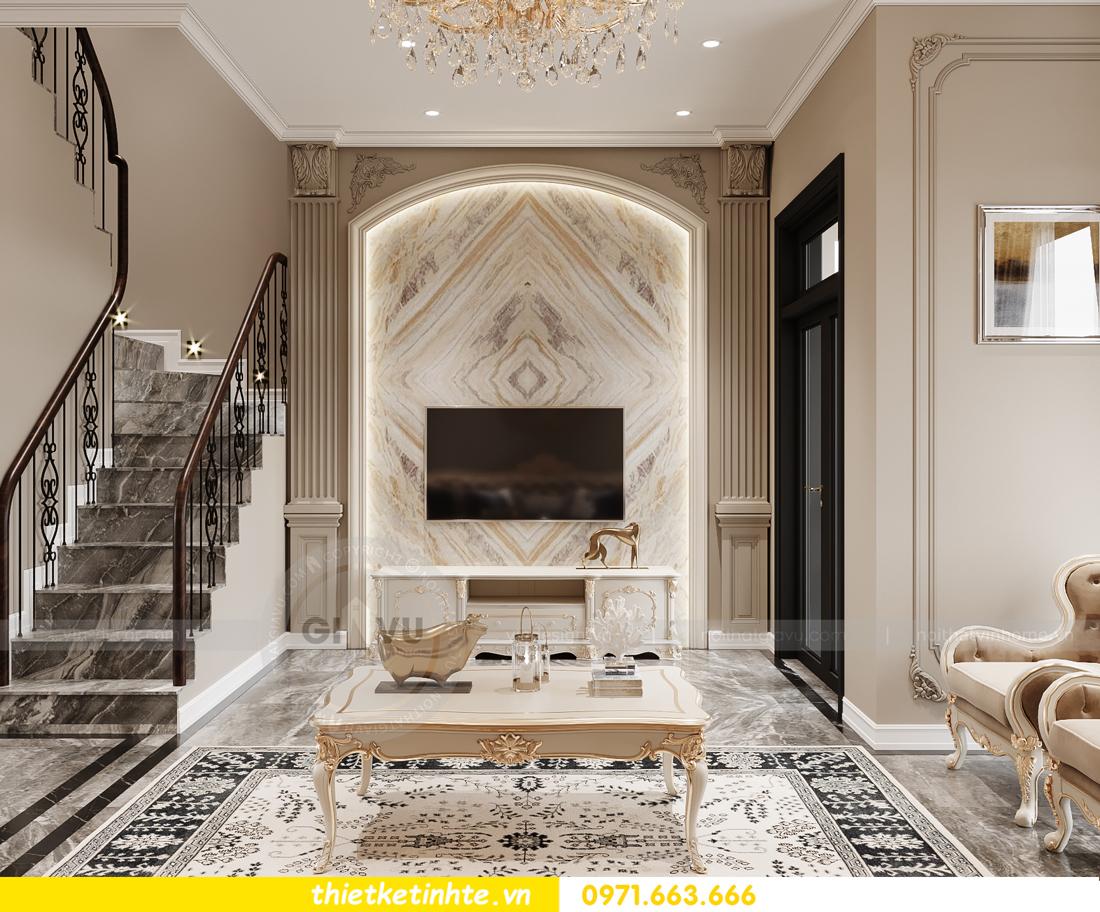 thiết kế nội thất biệt thự tân cổ điển tại Vinhomes Ocean Park 3