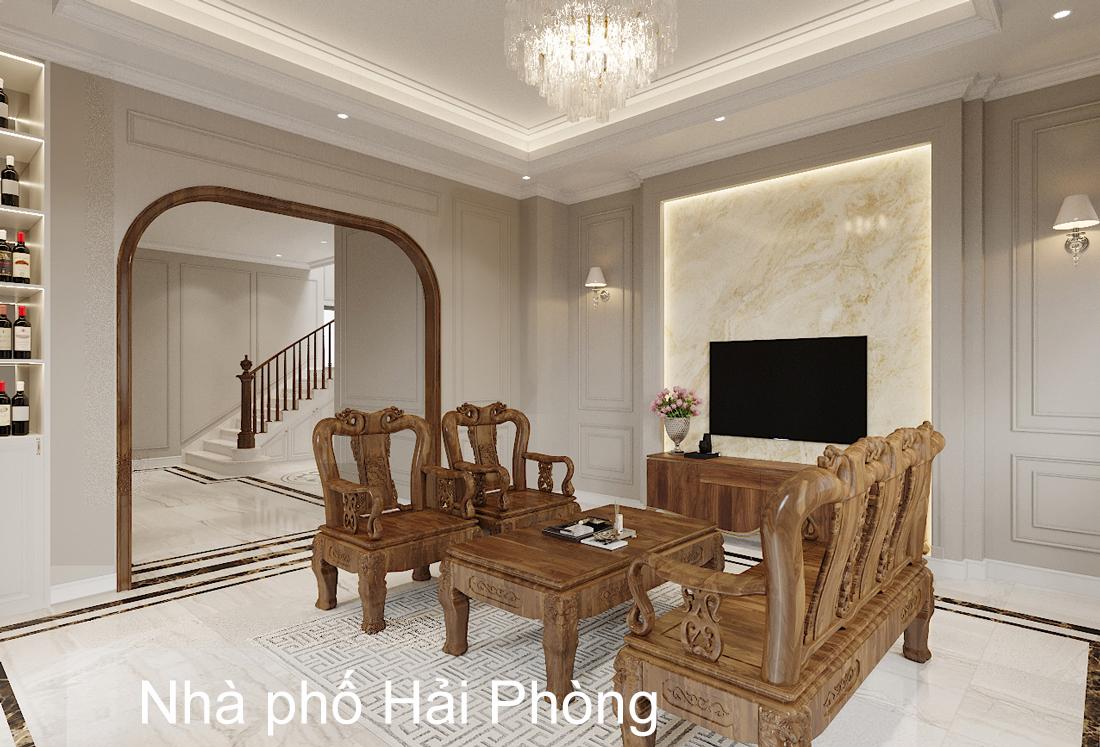 Thiết kế nội thất nhà phố hiện đại nhà anh Sơn Hải Phòng