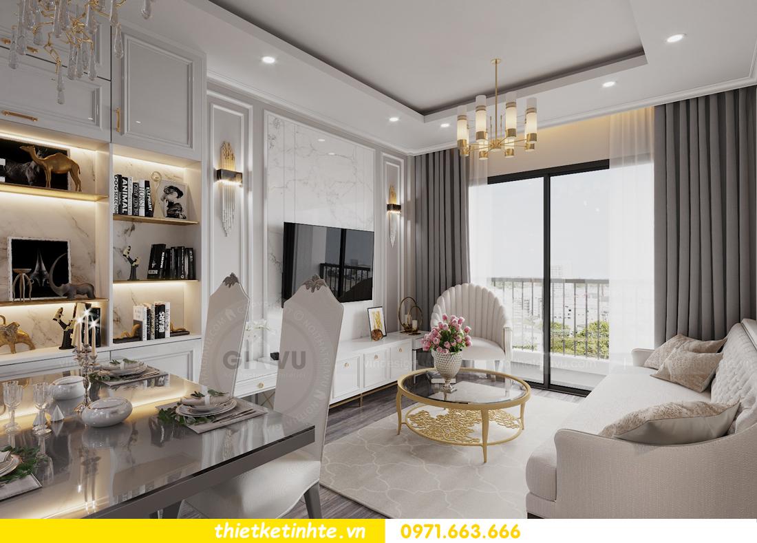 thiết kế nội thất Smart City tòa S2.02 căn hộ 5B nhà chị Hà 3