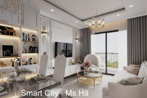 Thiết Kế Nội Thất Smart City Tòa S2.02 Căn Hộ 5B Nhà Chị Hà