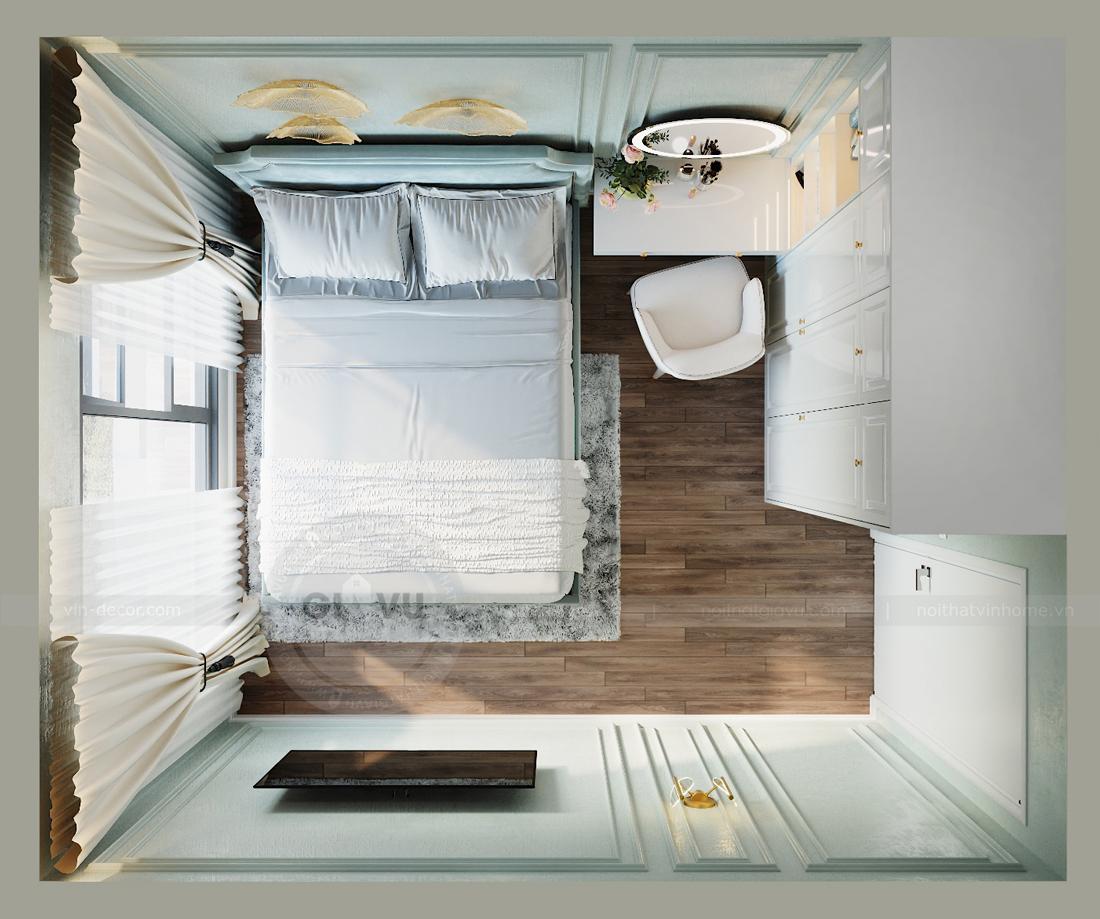 thiết kế nội thất Smart City tòa S2.02 căn hộ 5B nhà chị Hà 6