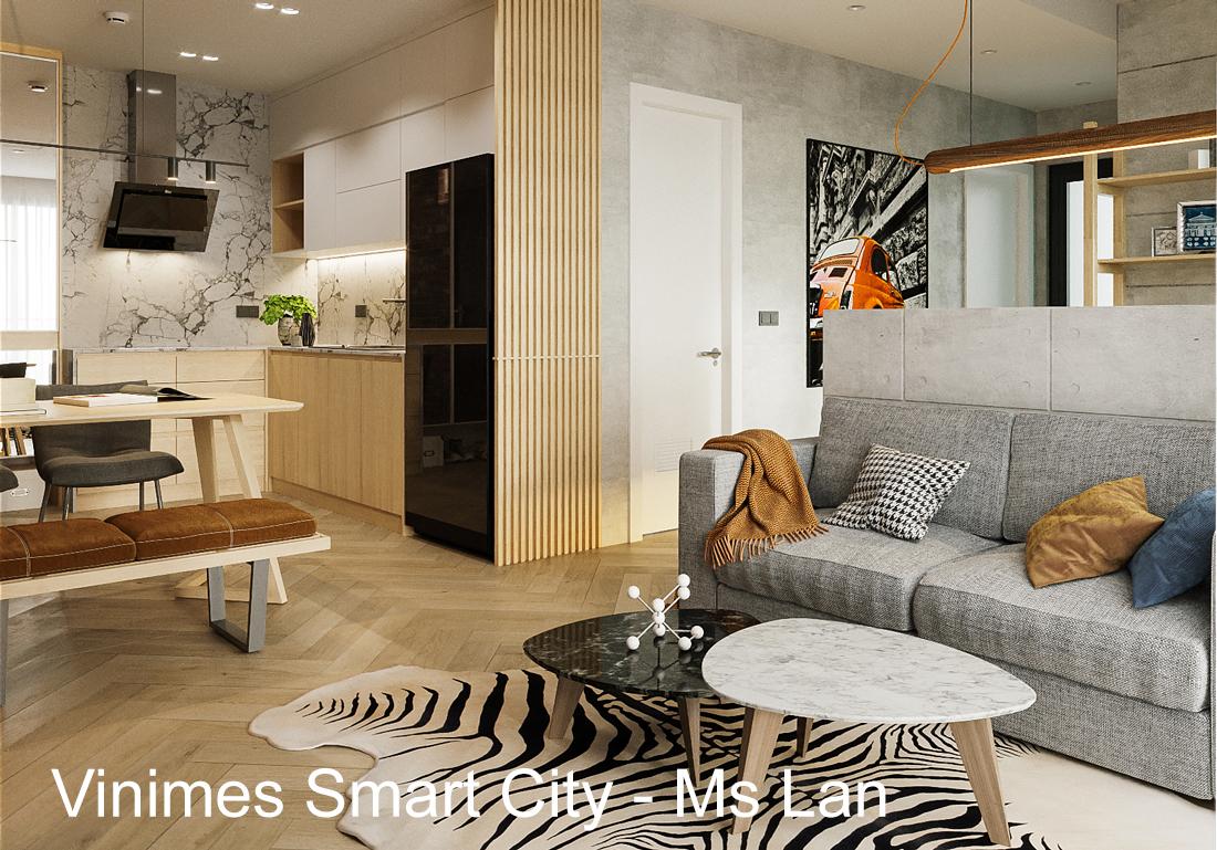 Thi công nội thất căn hộ Smart City tòa S202 căn 08 – Chị Lan