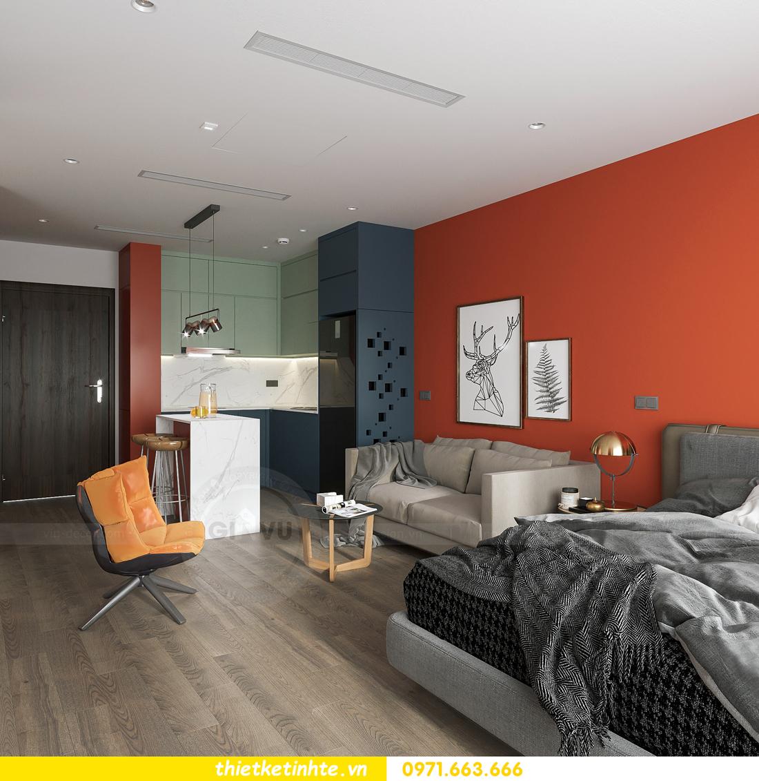 thiết kế nội thất căn hộ Studio tại Vinhomes Smart City 1