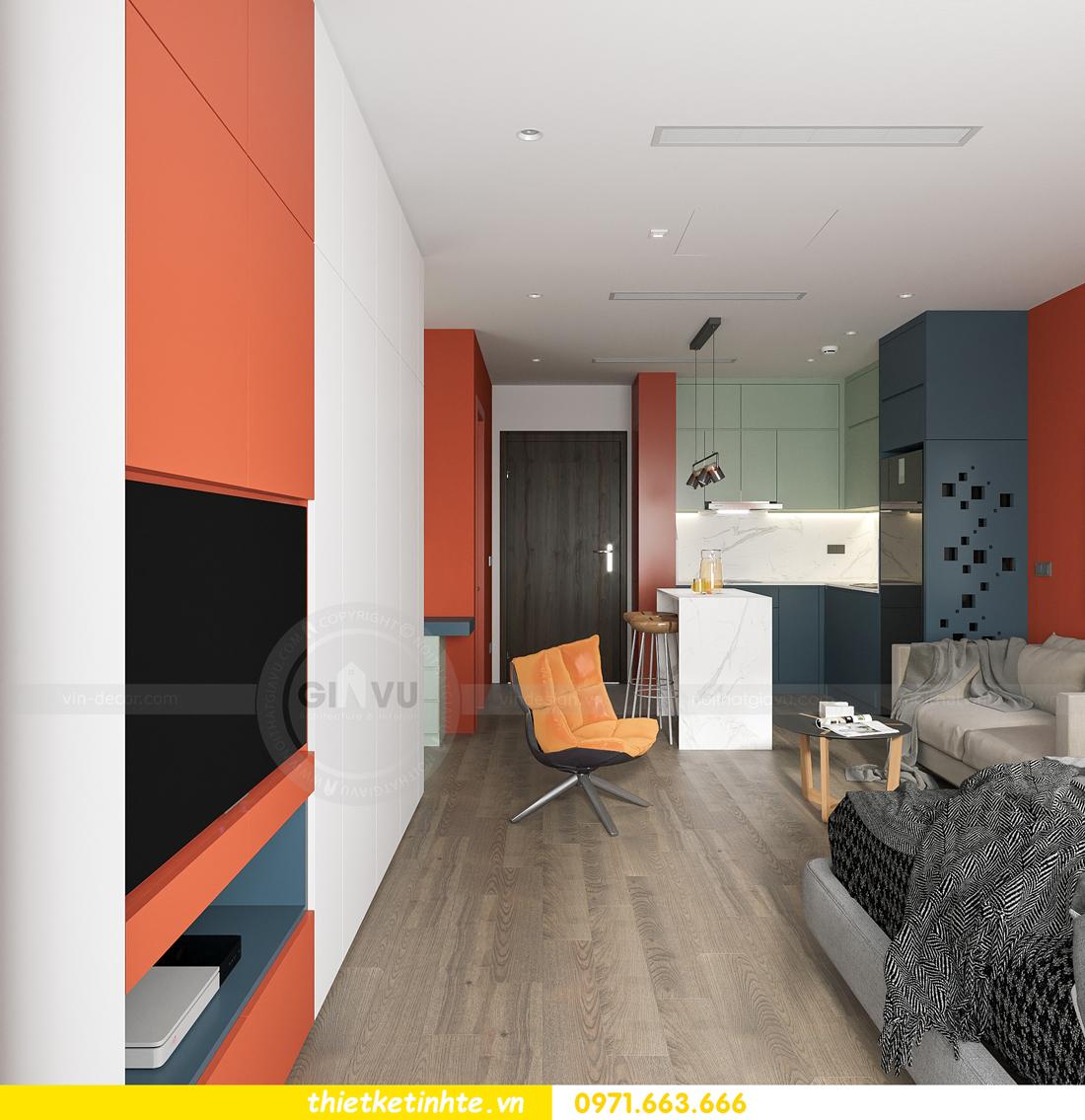 thiết kế nội thất căn hộ Studio tại Vinhomes Smart City 2