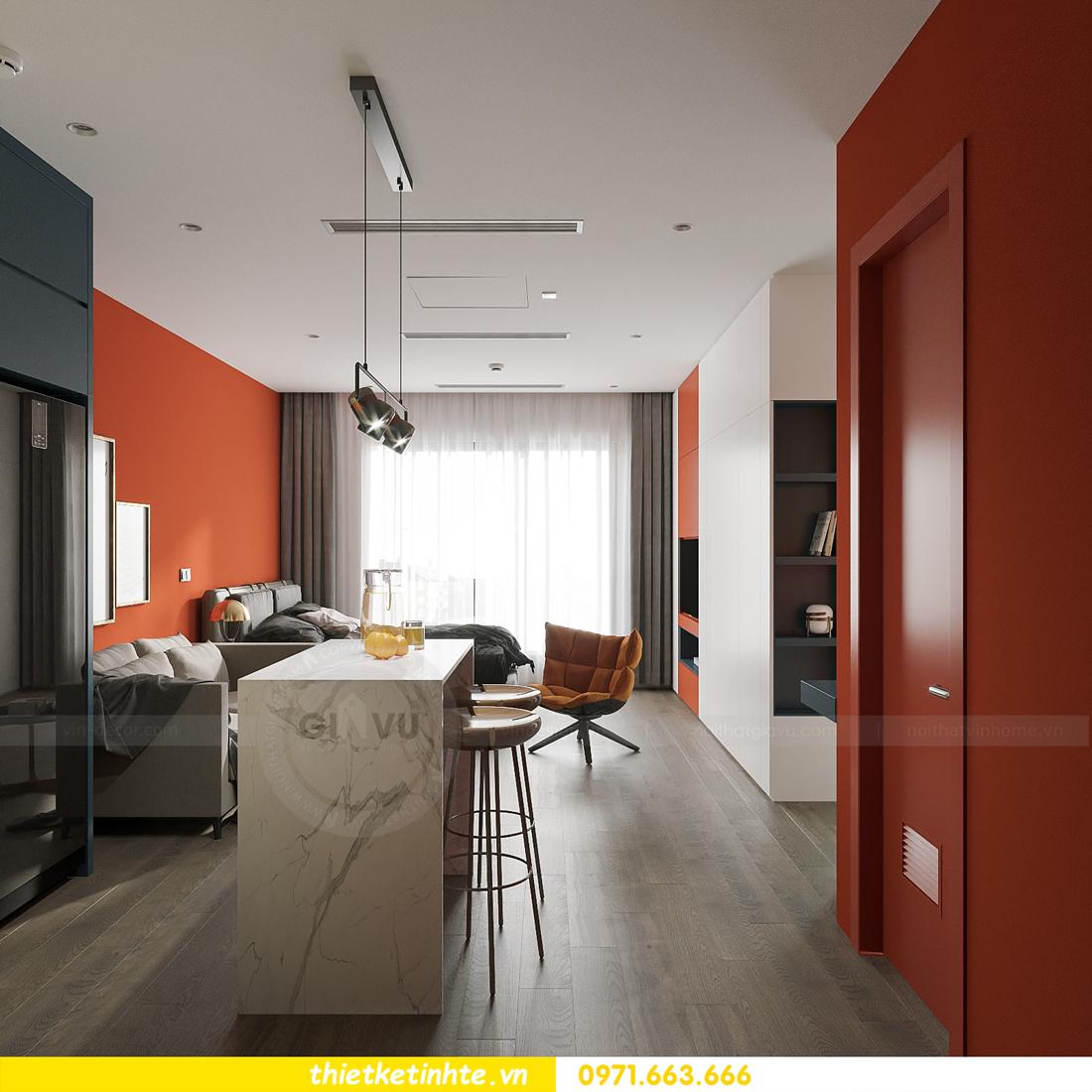 thiết kế nội thất căn hộ Studio tại Vinhomes Smart City 3