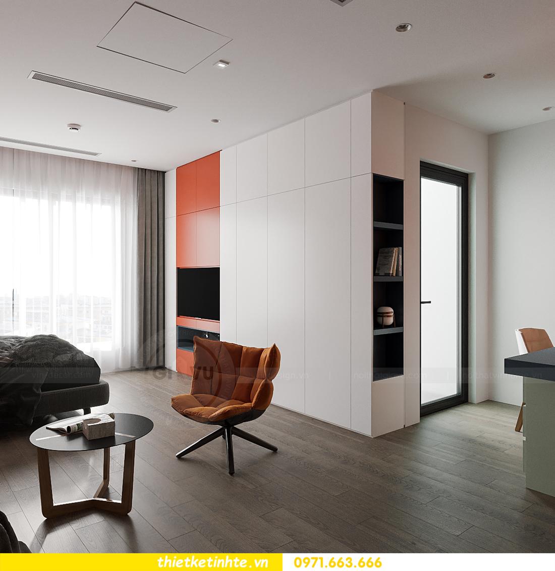 thiết kế nội thất căn hộ Studio tại Vinhomes Smart City 5