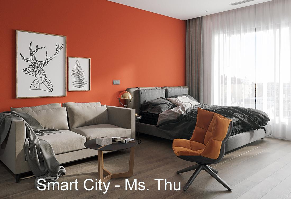 Thiết kế nội thất căn hộ Studio tại Vinhomes Smart City