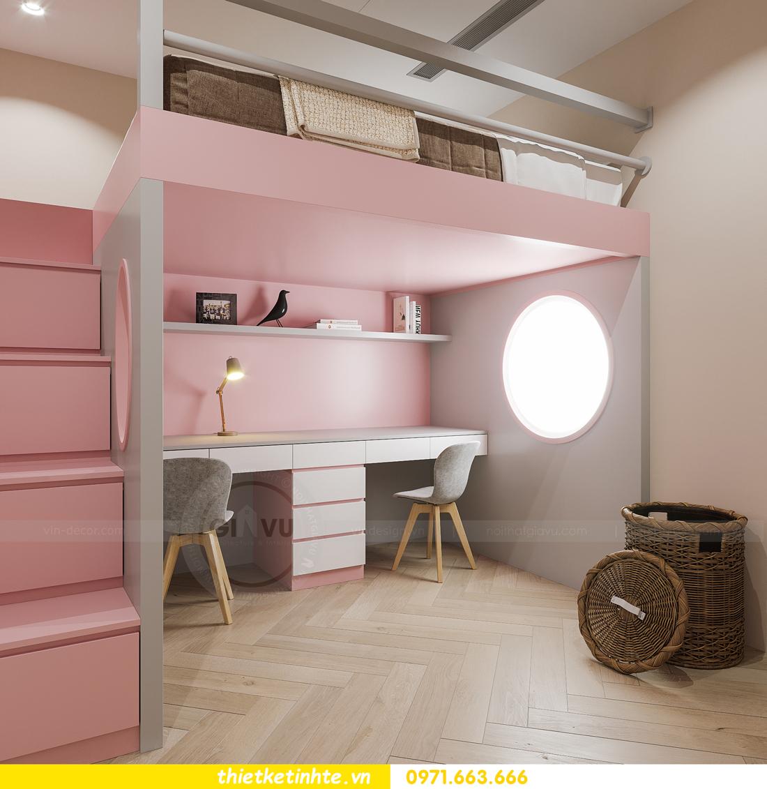 thiết kế nội thất chung cư Smart City tòa S102 căn 17 chị Hà 13