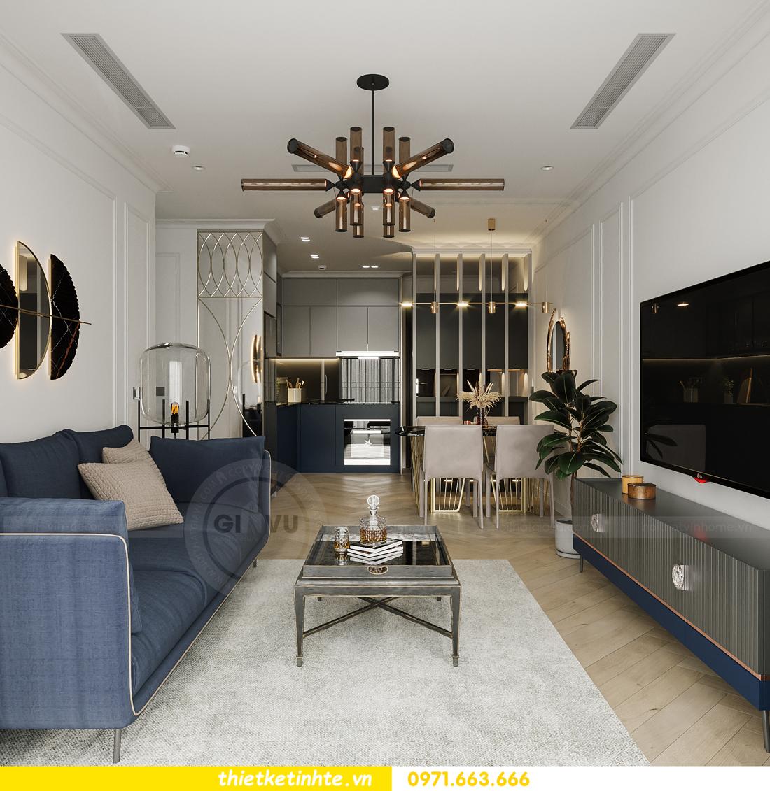 thiết kế nội thất chung cư Smart City tòa S102 căn 17 chị Hà 6