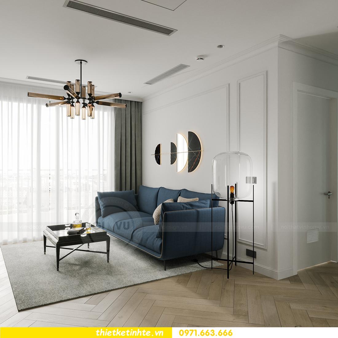 thiết kế nội thất chung cư Smart City tòa S102 căn 17 chị Hà 7