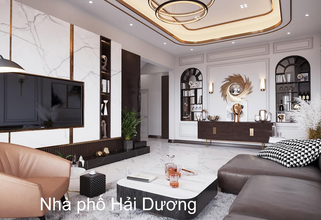 Thiết kế nội thất nhà phố đẹp tại Hải Dương nhà chị Trinh