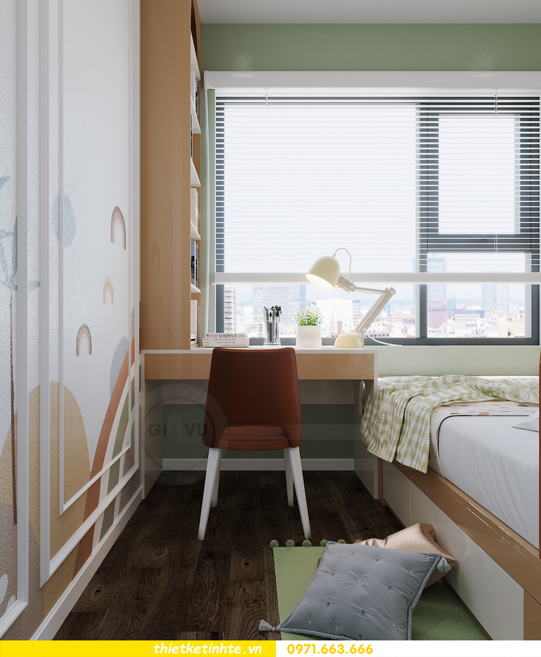 thiết kế thi công nội thất Smart City tòa S2.02 căn 12 15