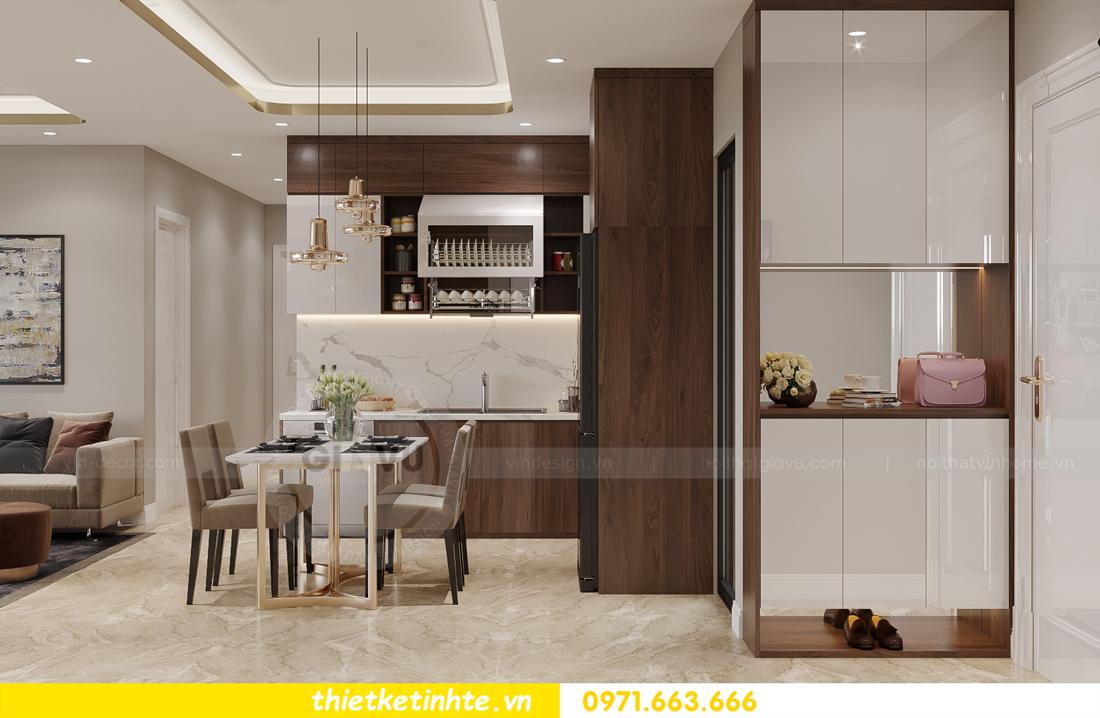 mẫu thiết kế nội thất căn hộ Smart City City căn hộ 3 phòng ngủ 1