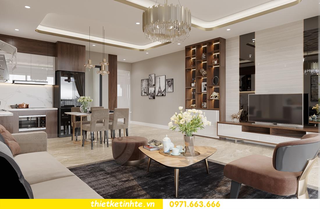mẫu thiết kế nội thất căn hộ Smart City City căn hộ 3 phòng ngủ 2