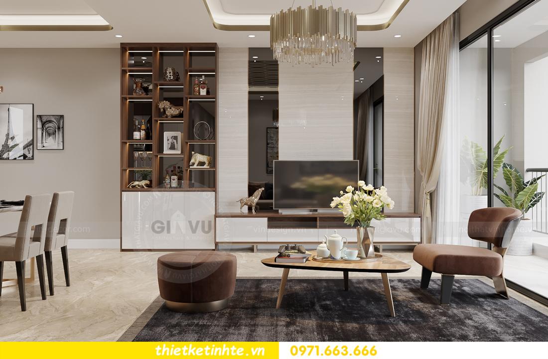mẫu thiết kế nội thất căn hộ Smart City City căn hộ 3 phòng ngủ 3