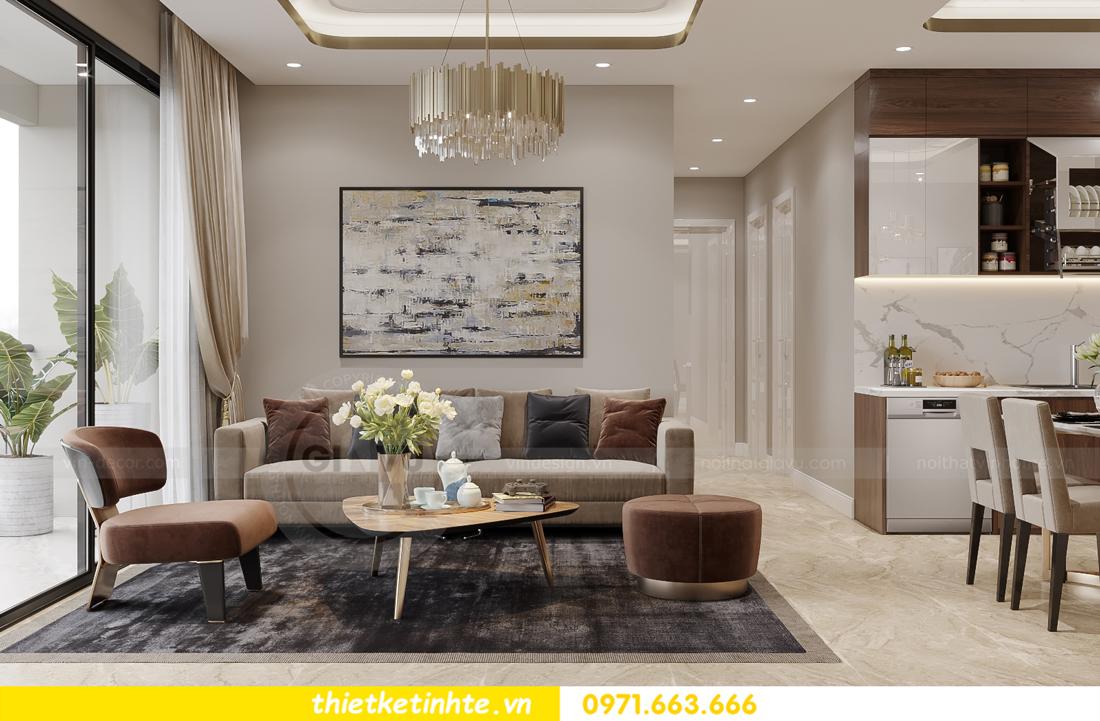 mẫu thiết kế nội thất căn hộ Smart City City căn hộ 3 phòng ngủ 4