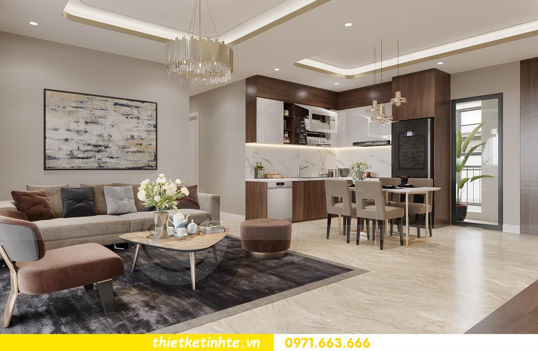 mẫu thiết kế nội thất căn hộ Smart City City căn hộ 3 phòng ngủ 5