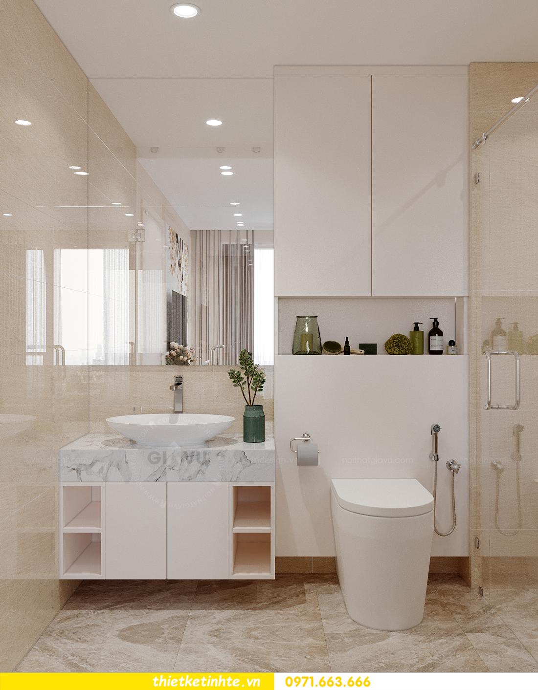 mẫu thiết kế nội thất căn hộ Smart City sang trọng, tiện nghi 10
