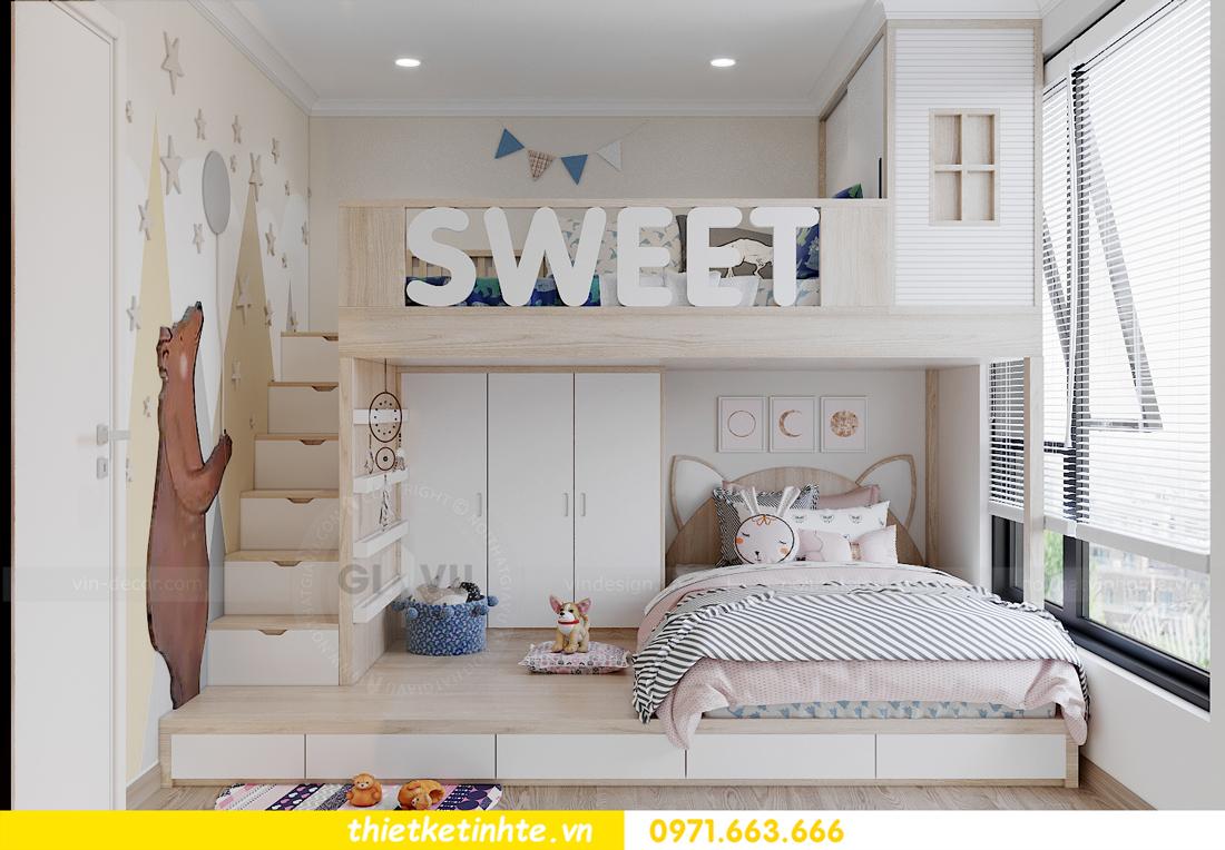 mẫu thiết kế nội thất căn hộ Smart City sang trọng, tiện nghi 11