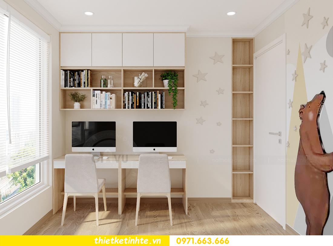 mẫu thiết kế nội thất căn hộ Smart City sang trọng, tiện nghi 12