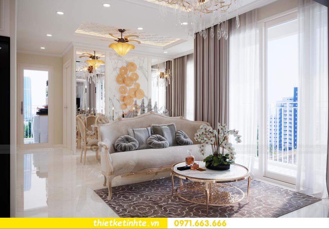 mẫu thiết kế nội thất căn hộ Smart City sang trọng, tiện nghi 2