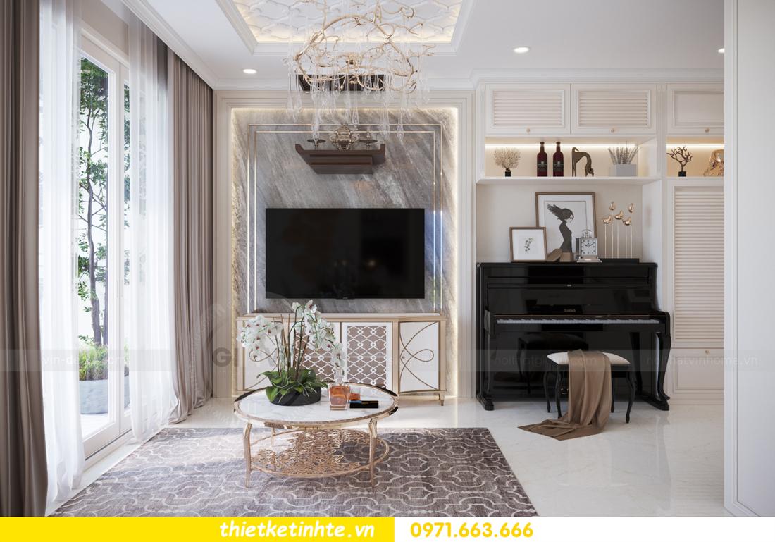 mẫu thiết kế nội thất căn hộ Smart City sang trọng, tiện nghi 3