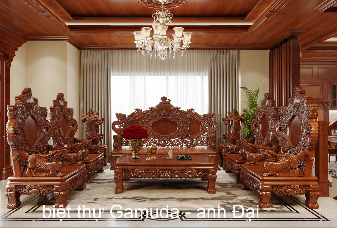 Thiết kế nội thất biệt thự Gamuda nhà anh Đại