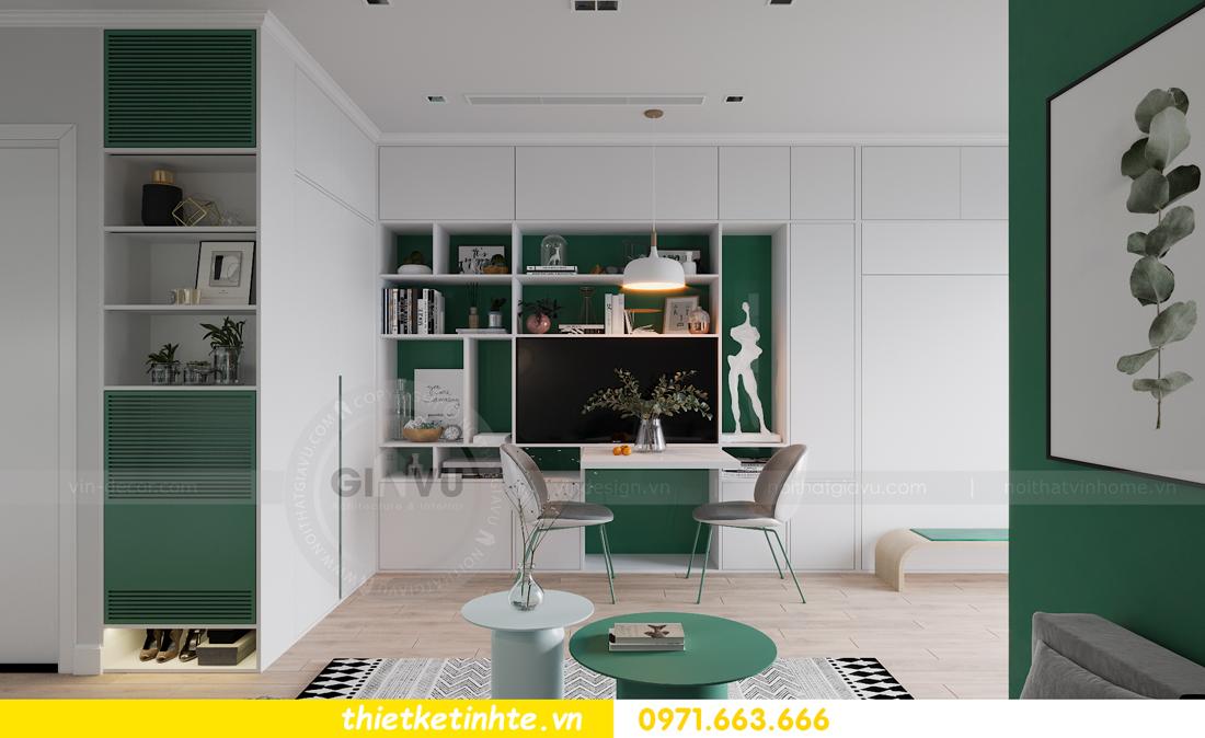 thiết kế nội thất căn hộ Studio tòa S101 Vinhomes Smart City 2