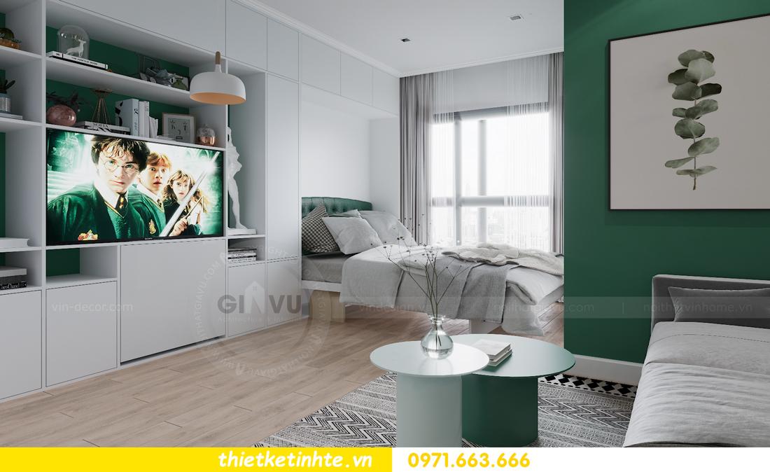 thiết kế nội thất căn hộ Studio tòa S101 Vinhomes Smart City 4