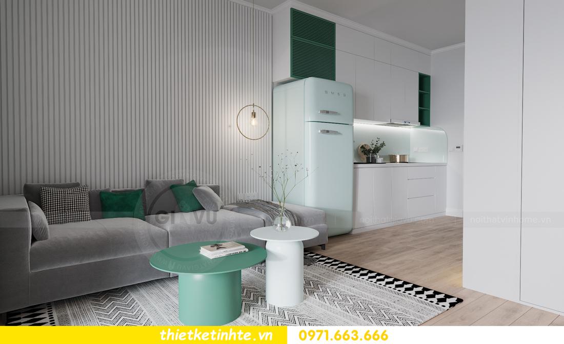 thiết kế nội thất căn hộ Studio tòa S101 Vinhomes Smart City 5