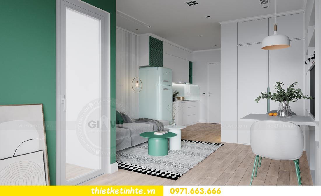 thiết kế nội thất căn hộ Studio tòa S101 Vinhomes Smart City 7