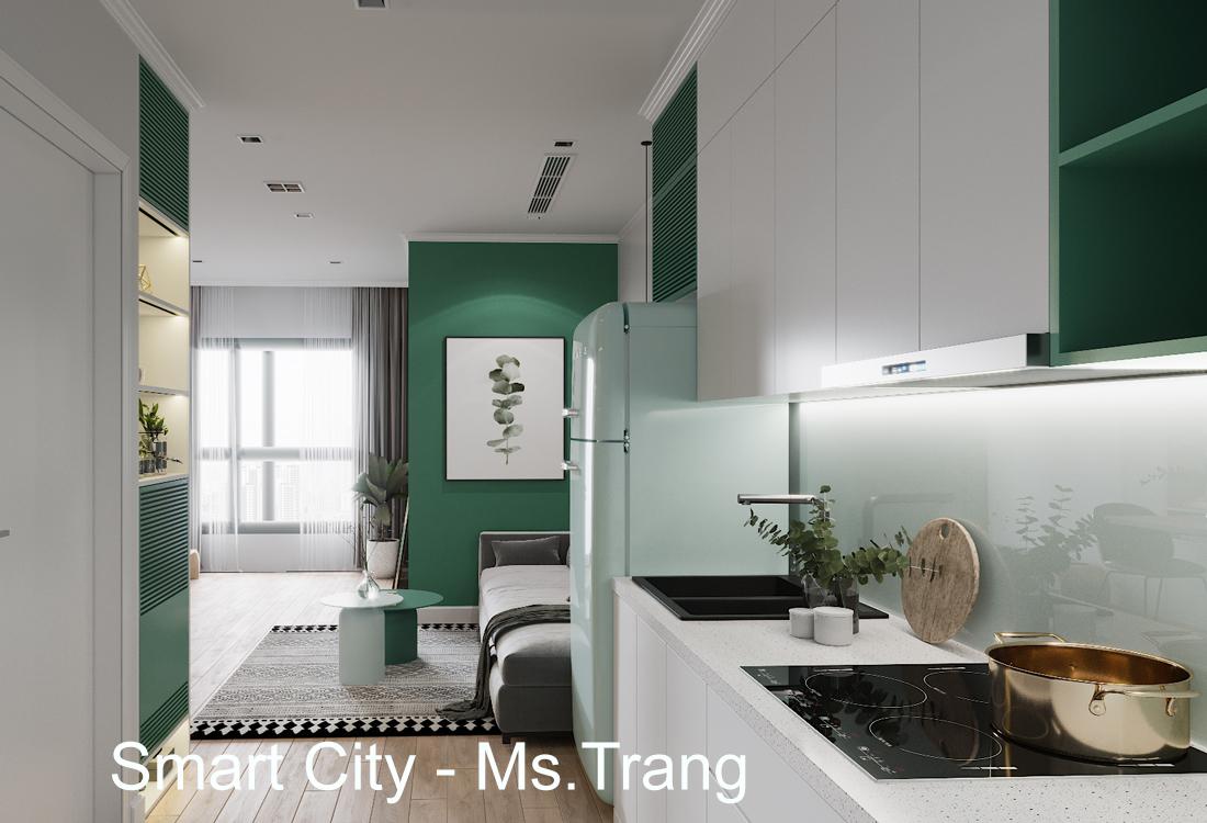 Thiết Kế Nội Thất Căn Hộ Studio Tòa S101 Vinhomes Smart City