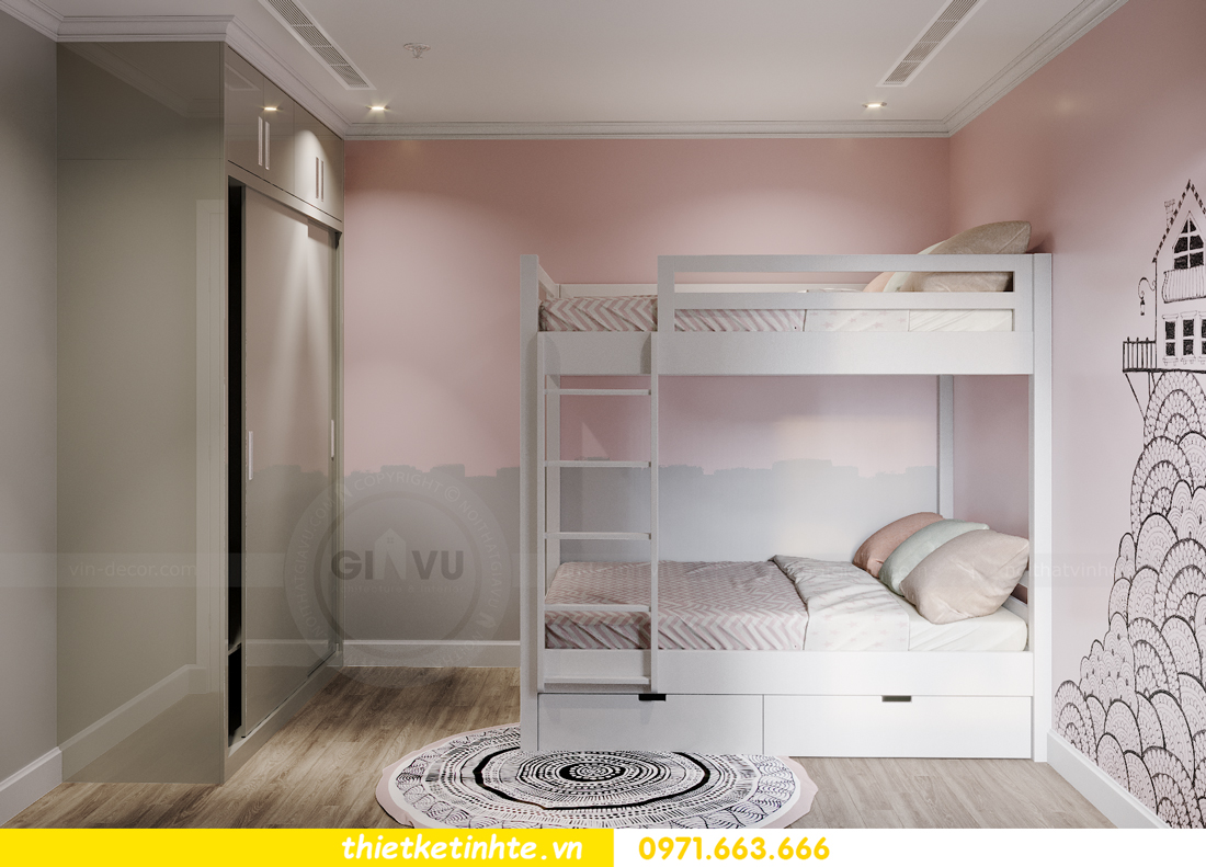 thiết kế nội thất căn hộ Vinhomes West Point W1 CH05 chị Hoa 12